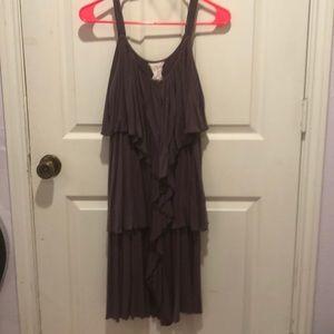 Dresses & Skirts - Kiddo USA Grey Ruffle Sleeveless Dress